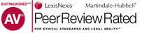 Distinguished AV | Lexis Nexus Martindale-Hubbell Peer Review Rated For Ethical Standards and Legal Ability